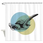 MIGRATING SEA TURTLE Shower Curtain