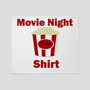 MOVIE NIGHT SHIRT Throw Blanket