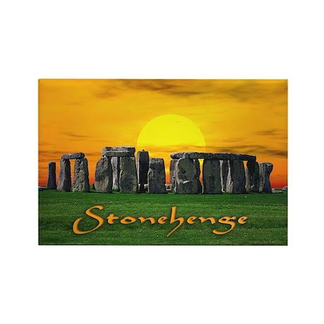 Stonehenge at Sunset - Rectangle Magnet