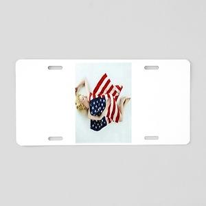 4 military Pin Ups Aluminum License Plate