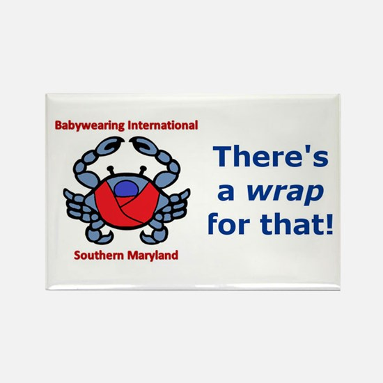 Crab Logo, Wrap for that! Rectangle Magnet (10 pac