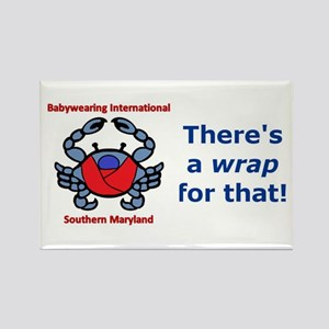 Crab Logo, Wrap for that! Rectangle Magnet