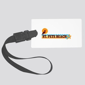 St. Pete Beach - Beach Design. Large Luggage Tag