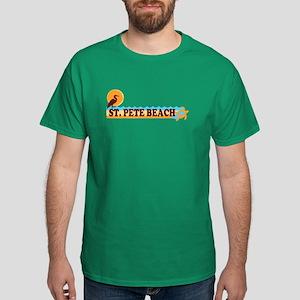 St. Pete Beach - Beach Design. Dark T-Shirt