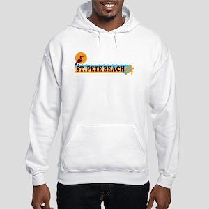 St. Pete Beach - Beach Design. Hooded Sweatshirt