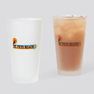 St. Pete Beach - Beach Design. Drinking Glass