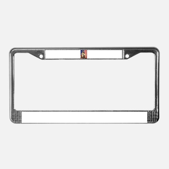 2 Military Pin Ups License Plate Frame