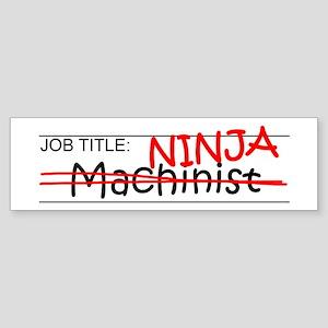 Job Ninja Machinist Sticker (Bumper)