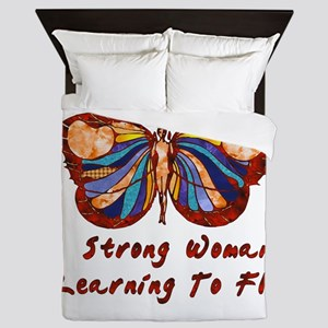 Strong Woman Learning To Fly Queen Duvet