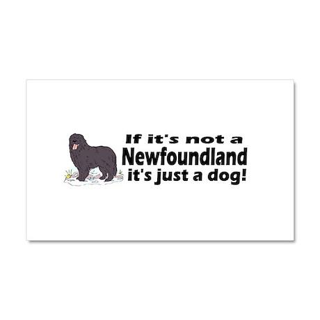 newfoundland dog bumper.png Car Magnet 20 x 12