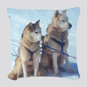 huskies1 Woven Throw Pillow
