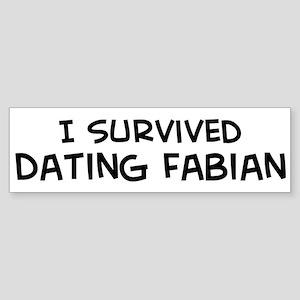 Survived Dating Fabian Bumper Sticker