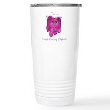 Purple Dancing Elephant Travel Mug