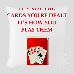 CARDS Woven Throw Pillow