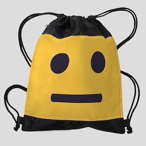 Straight Emoji Face Drawstring Bag