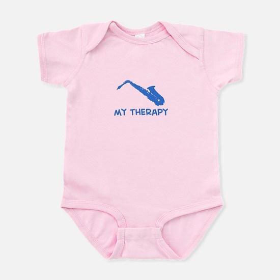 Saxophone my therapy Infant Bodysuit