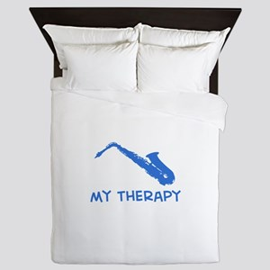 Saxophone my therapy Queen Duvet