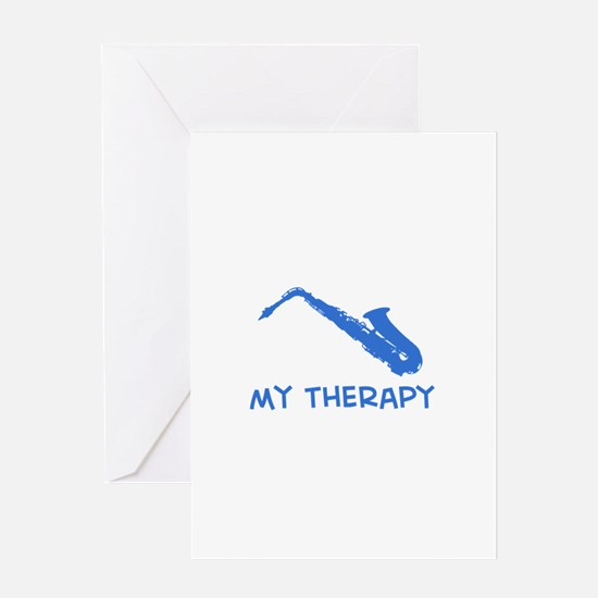 Saxophone my therapy Greeting Card