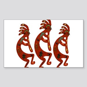 Lizard Kokopelli Sticker (Rectangle)