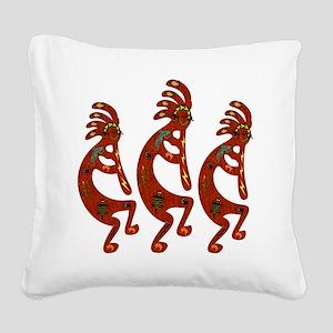 Lizard Kokopelli Square Canvas Pillow