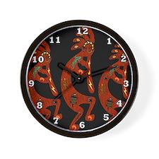 Lizard Kokopelli Wall Clock