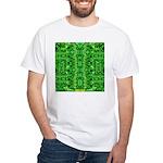 Royal Hawaiian Palms Print White T-Shirt