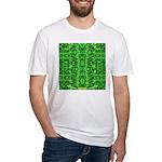 Royal Hawaiian Palms Print Fitted T-Shirt