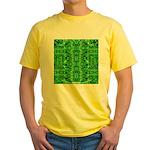 Royal Hawaiian Palms Print Yellow T-Shirt