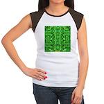 Royal Hawaiian Palms Print Women's Cap Sleeve T-Sh