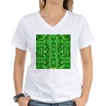 Royal Hawaiian Palms Print Women's V-Neck T-Shirt