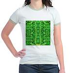 Royal Hawaiian Palms Print Jr. Ringer T-Shirt