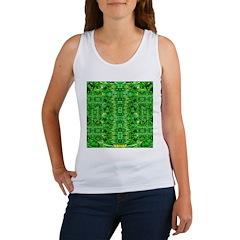 Royal Hawaiian Palms Print Women's Tank Top