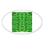 Royal Hawaiian Palms Print Sticker (Oval 10 pk)