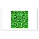 Royal Hawaiian Palms Print Sticker (Rectangle 10 p