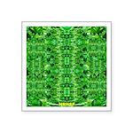Royal Hawaiian Palms Print Square Sticker 3