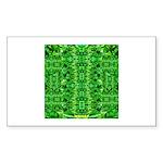 Royal Hawaiian Palms Print Sticker (Rectangle)