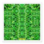 Royal Hawaiian Palms Print Square Car Magnet 3