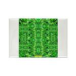 Royal Hawaiian Palms Print Rectangle Magnet