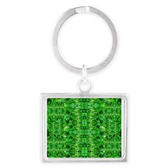 Royal Hawaiian Palms Print Landscape Keychain