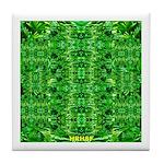 Royal Hawaiian Palms Print Tile Coaster