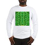 Royal Hawaiian Palms Print Long Sleeve T-Shirt