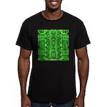 Royal Hawaiian Palms Print Men's Fitted T-Shirt (d