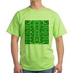 Royal Hawaiian Palms Print Green T-Shirt