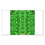Royal Hawaiian Palms Print Sticker (Rectangle 50 p