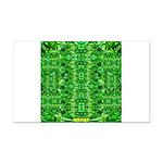 Royal Hawaiian Palms Print Rectangle Car Magnet