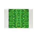 Royal Hawaiian Palms Print Rectangle Magnet (100 p