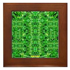 Royal Hawaiian Palms Print Framed Tile