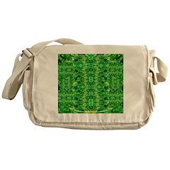Royal Hawaiian Palms Print Messenger Bag