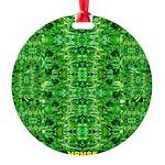 Royal Hawaiian Palms Print Round Ornament