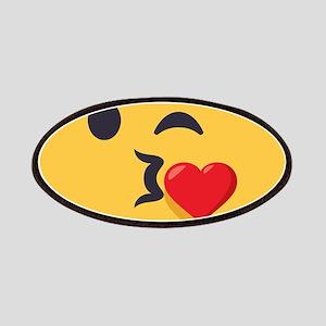 Winky Kiss Emoji Face Patch